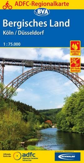 Fietskaart ADFC Regionalkarte Bergisches Land | BVA