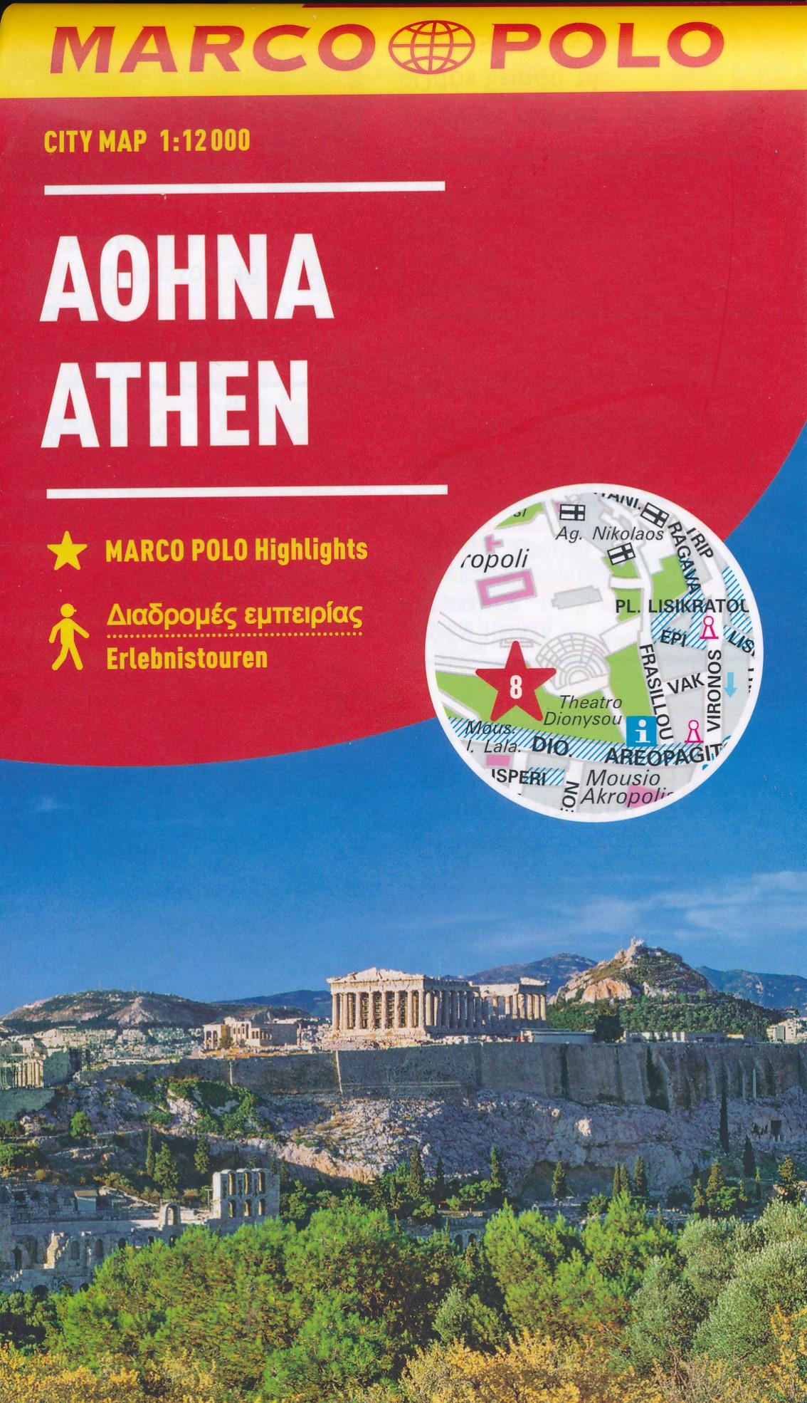 Stadsplattegrond Athene | Marco Polo