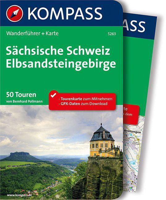 Wandelgids Sächsische Schweiz - Elbsandsteingebirge | Kompass