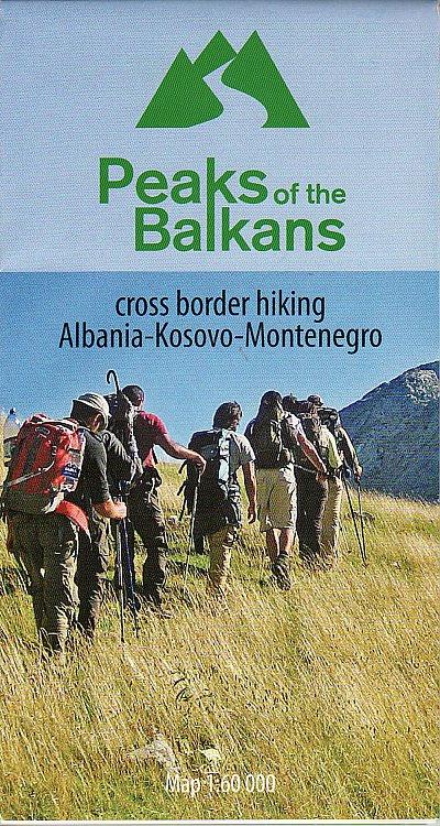 Wandelkaart Peaks of the Balkans | Huber Verlag