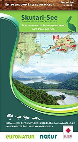 Wandelkaart Skutari See National Park | Huber Verlag