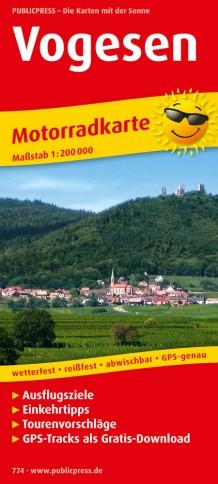 Wegenkaart - landkaart 774 Motorkarte Vogesen | Publicpress