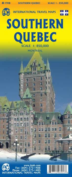 Wegenkaart - landkaart Southern Quebec - Zuid Quebec | ITMB