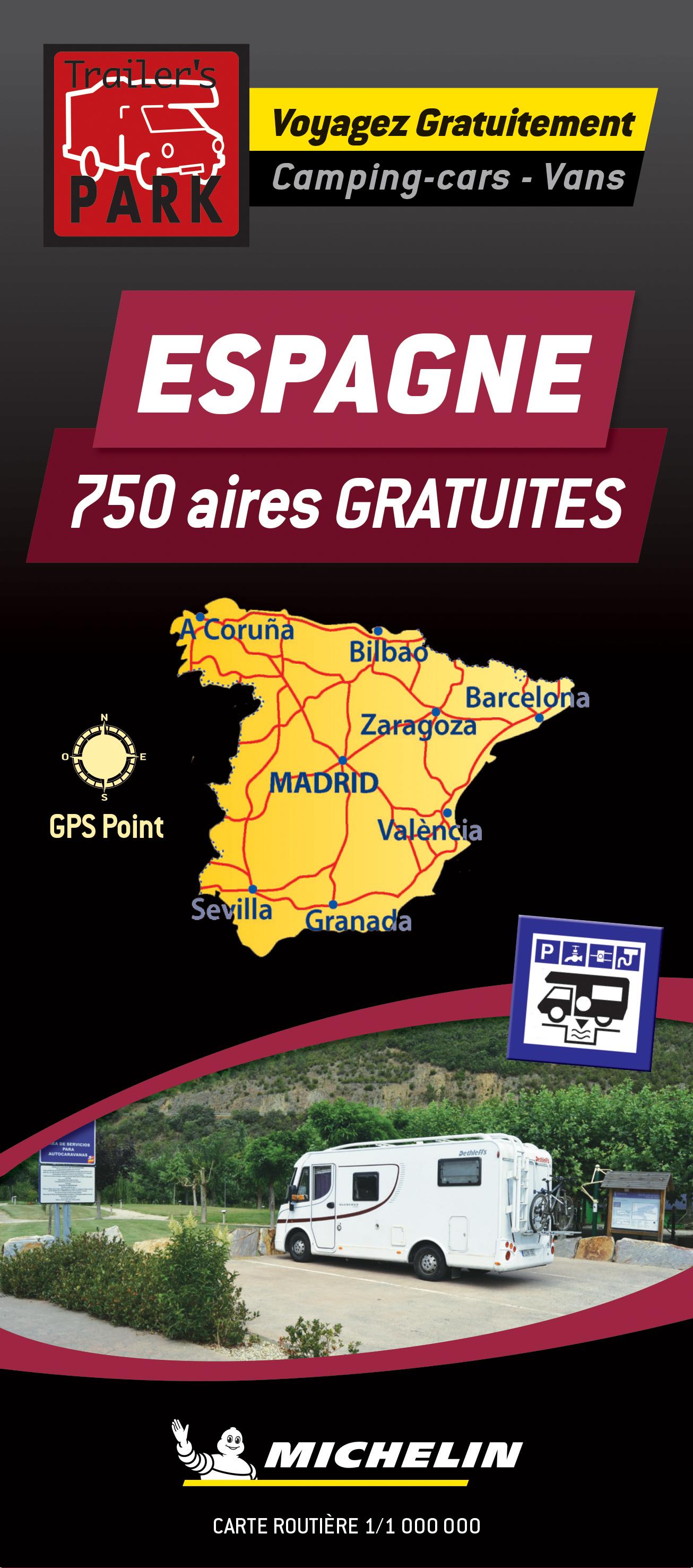 Online bestellen: Camperkaart - Wegenkaart - landkaart Spanje | Michelin