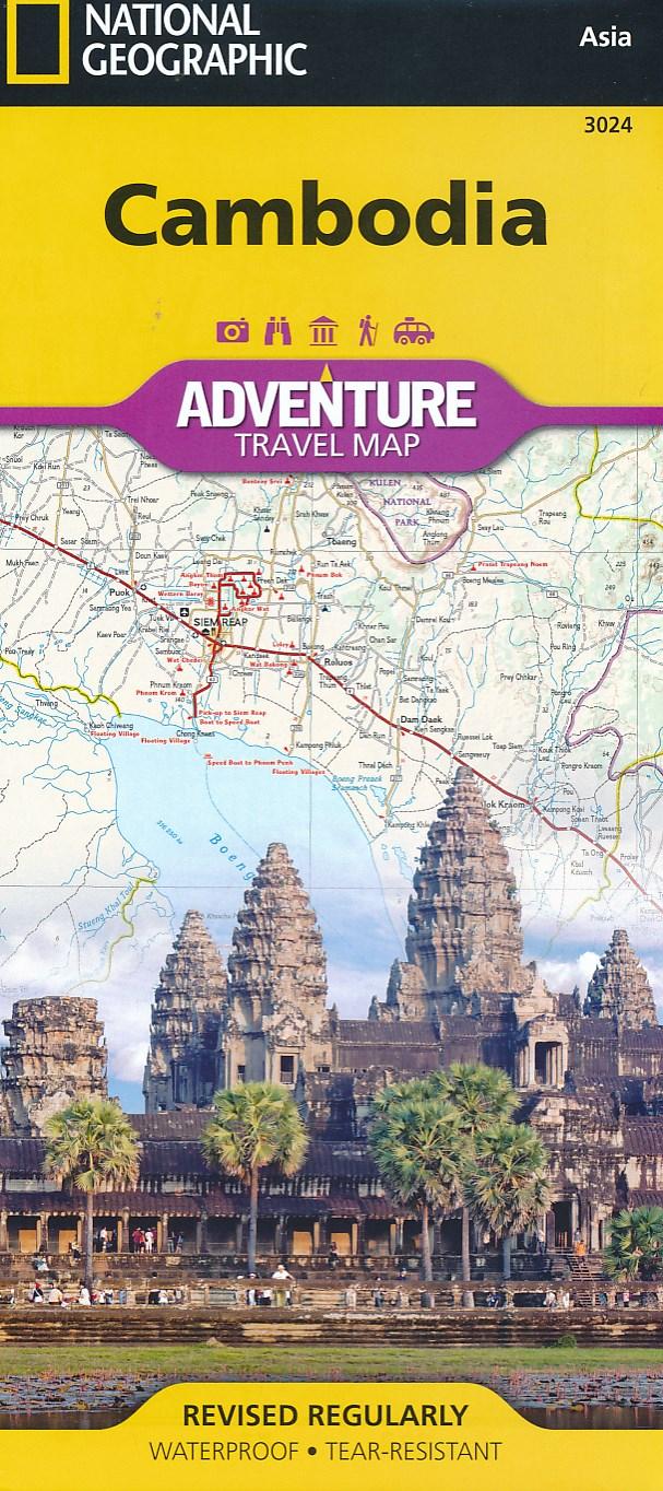 Wegenkaart - landkaart Cambodia - Cambodja   National Geographic