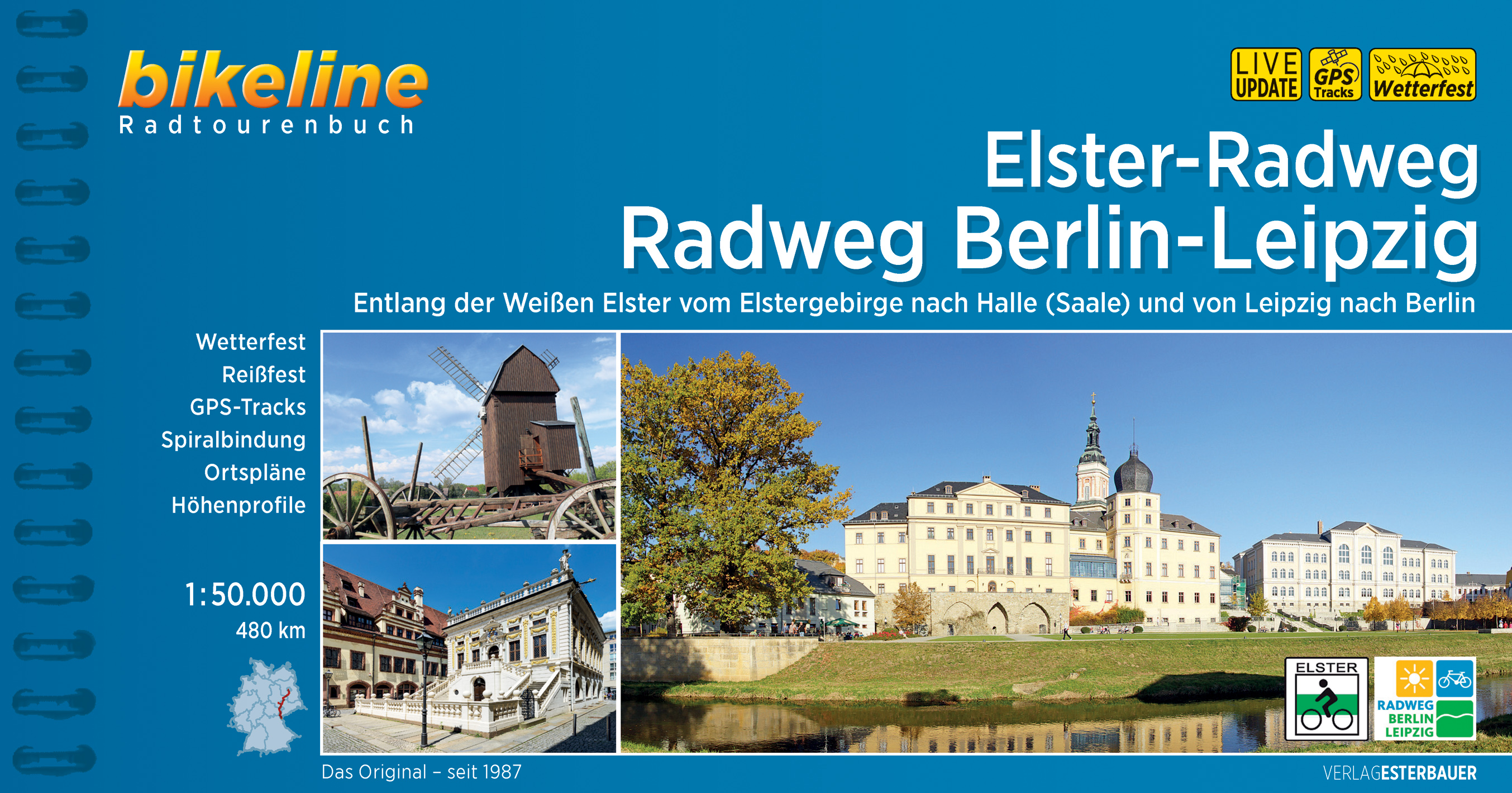Fietsgids Bikeline Elster-Radweg Berlin - Leipzig   Esterbauer