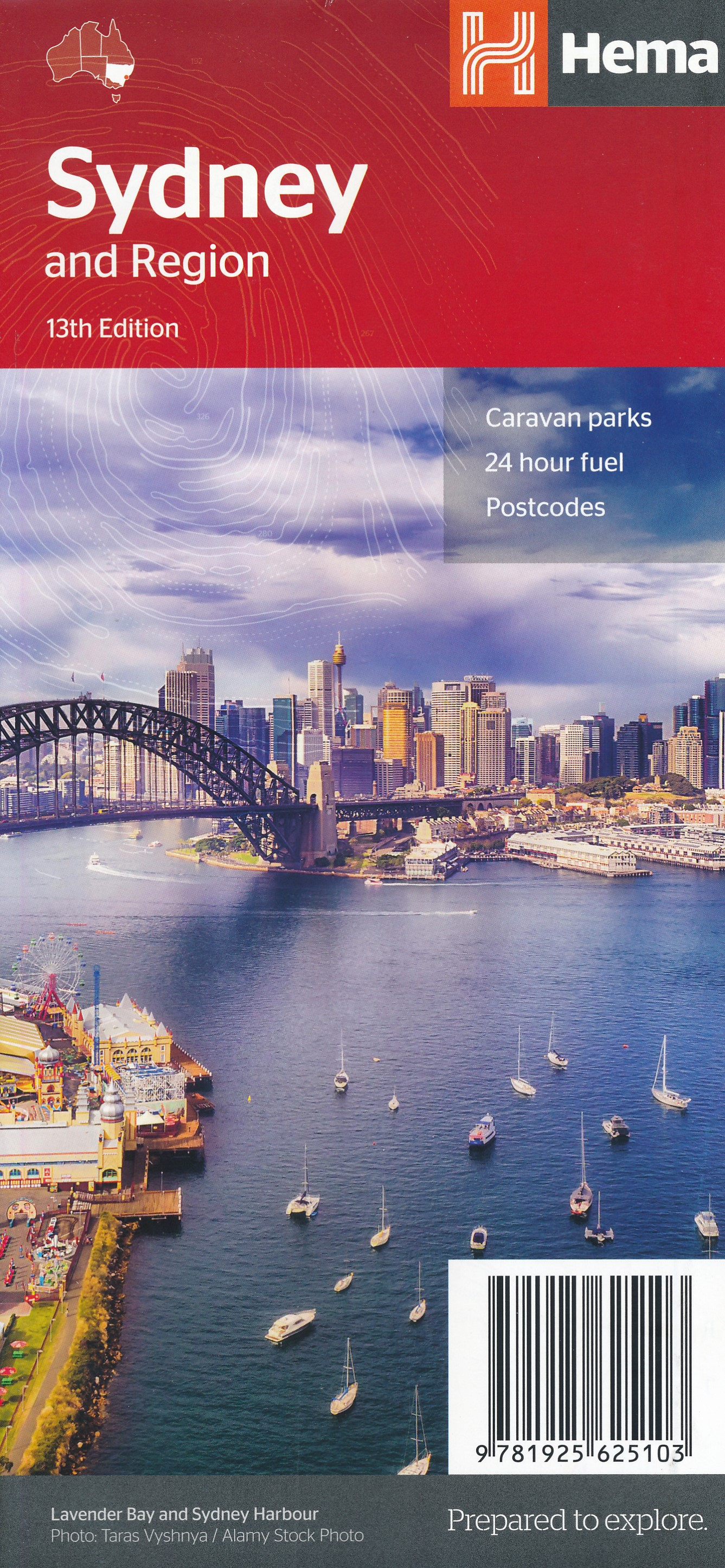 Wegenkaart - landkaart - Stadsplattegrond Sydney and Region | Hema Maps