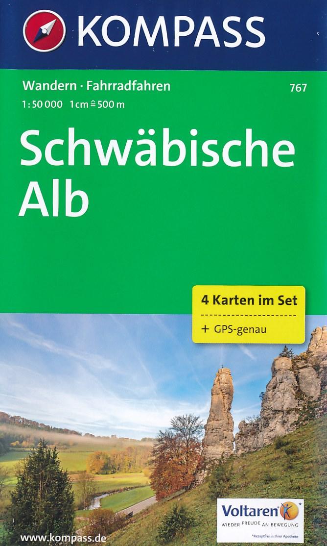 Wandelkaart 767 Schwäbische Alb | Kompass