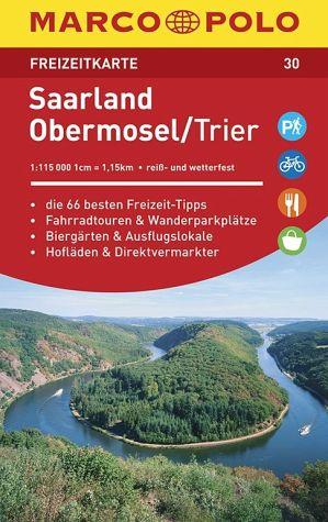 Wegenkaart - landkaart 30 Freizeitkarte Saarland, Obermosel, Trier | Marco Polo