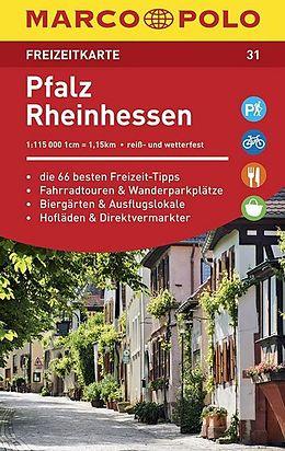 Wegenkaart - landkaart 31 Freizeitkarte Pfalz, Rheinhessen | Marco Polo