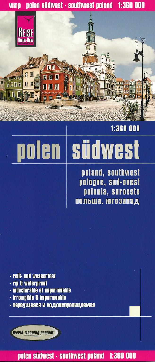 Wegenkaart - landkaart Polen südwest - Polen Zuid-West | Reise Know-How Verlag