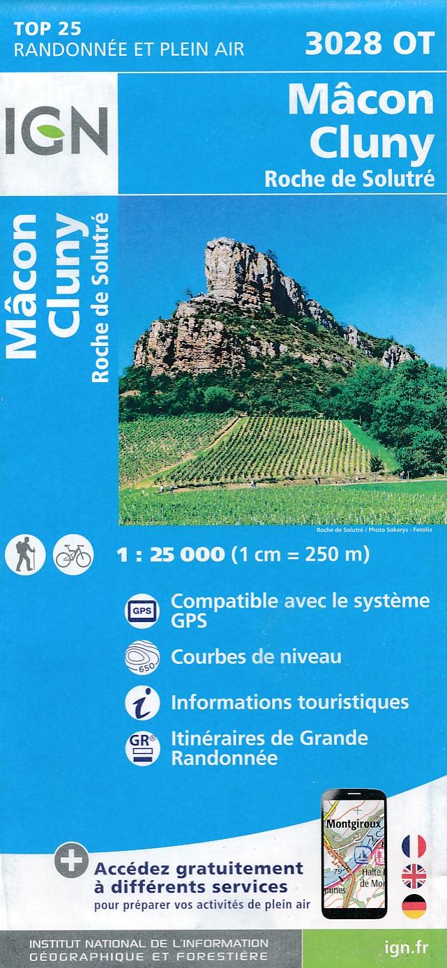 Wandelkaart - Topografische kaart 3028OT Mâcon - Cluny | IGN