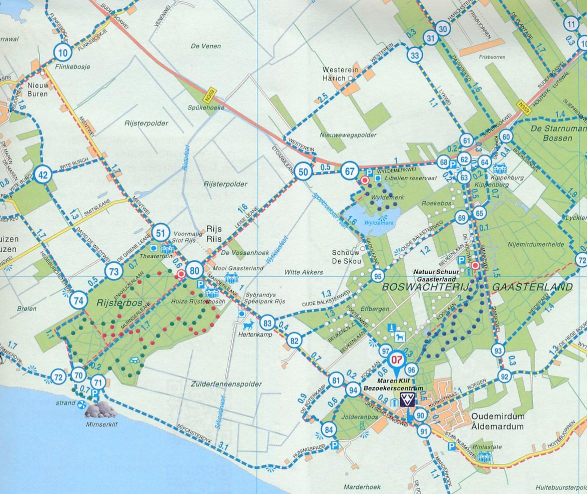Wandelkaart 12 Zuidwest Friesland Met Gaasterland Falk