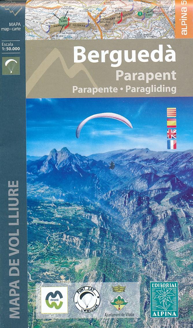 Wandelkaart Bergueda parapent - paraglyding | Editorial Alpina