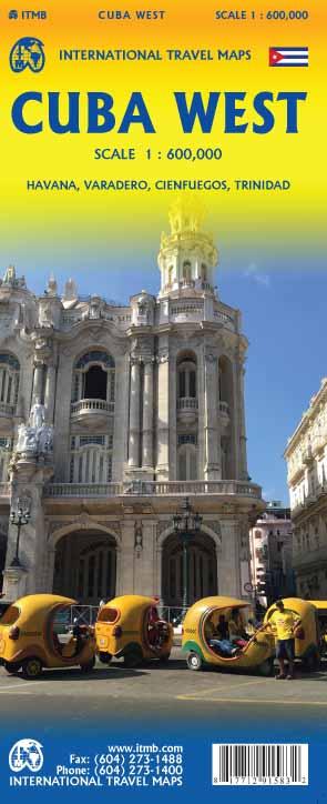 Wegenkaart - landkaart Cuba West | ITMB
