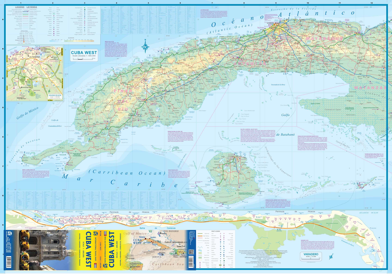 Wegenkaart Landkaart Cuba West Itmb 9781771291583