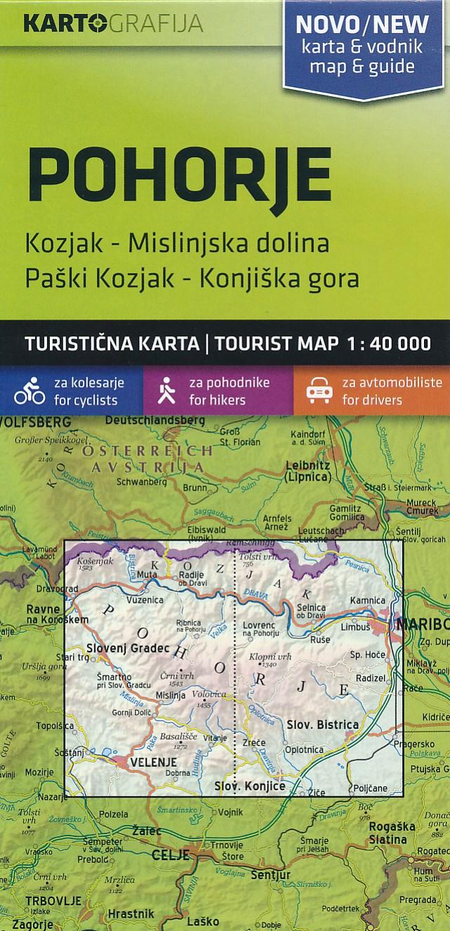 Wandelkaart - Fietskaart Pohorje | Kartografija