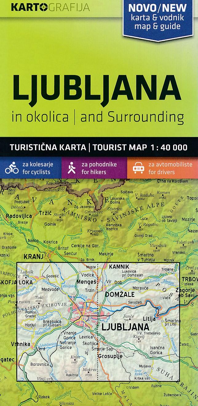 Wandelkaart - Fietskaart Ljubljana and surrounding | Kartografija