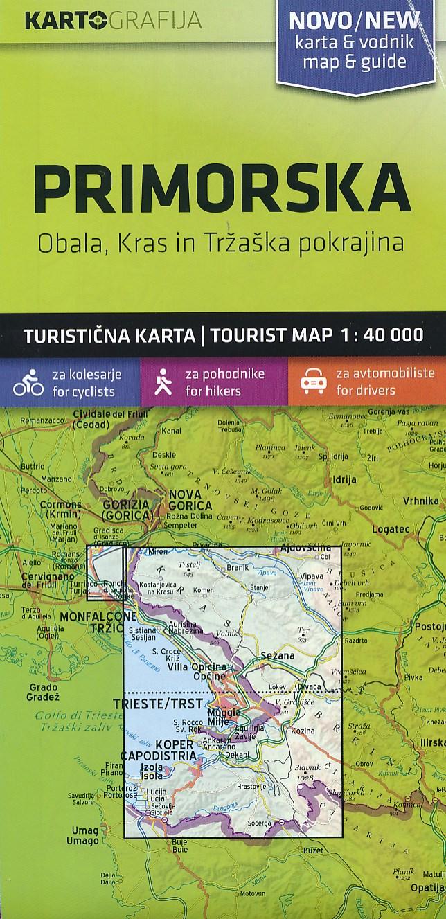 Wandelkaart - Fietskaart Primorska - Trieste | Kartografija