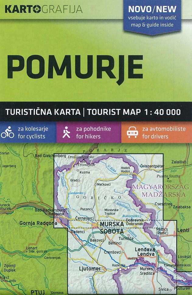 Wandelkaart - Fietskaart Pomurje - Murska - Lendava | Kartografija