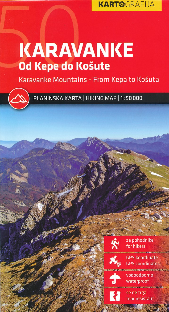 Wandelkaart Karavanke, van Kepa tot Kosuta | Kartografija