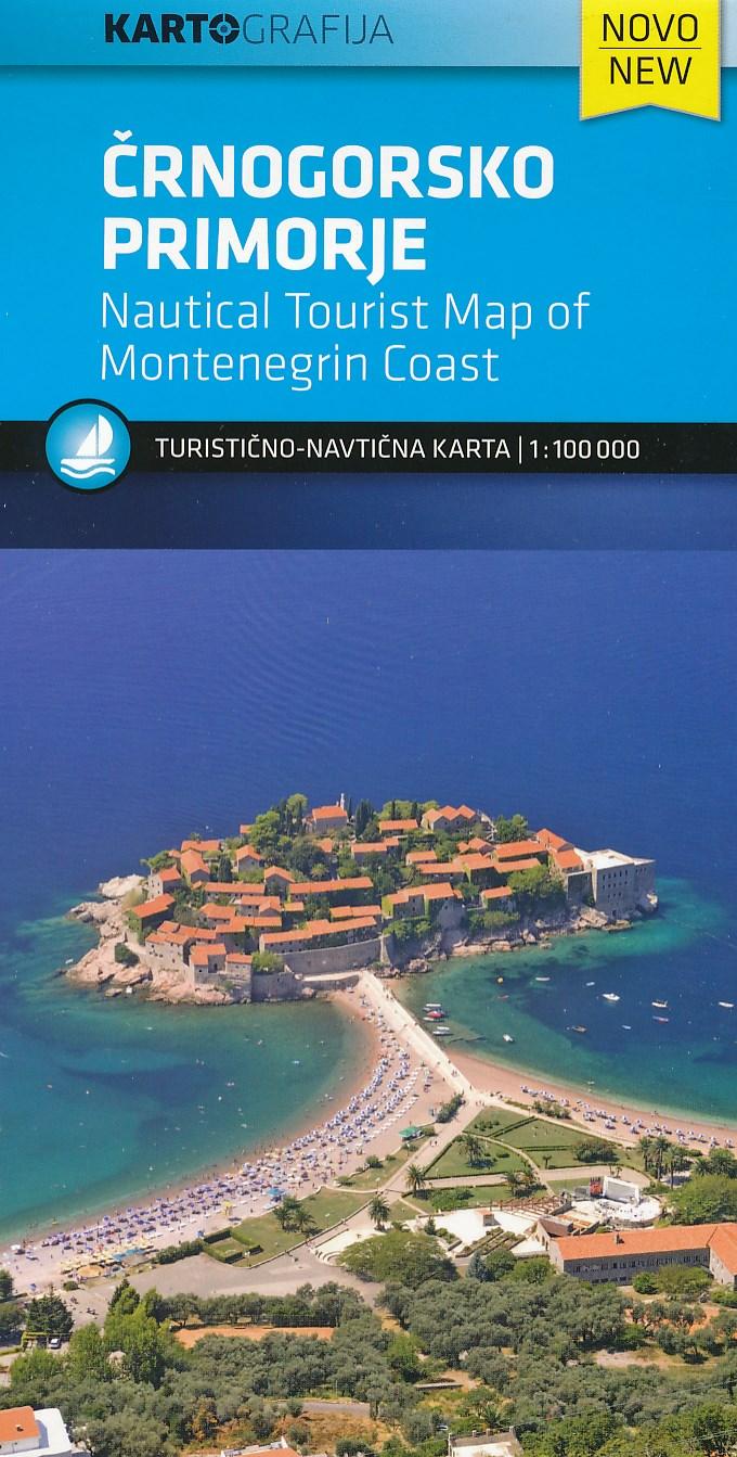 Online bestellen: Wegenkaart - landkaart - Fietskaart Crnogorsko primorje - Kust van Montenegro   Kartografija
