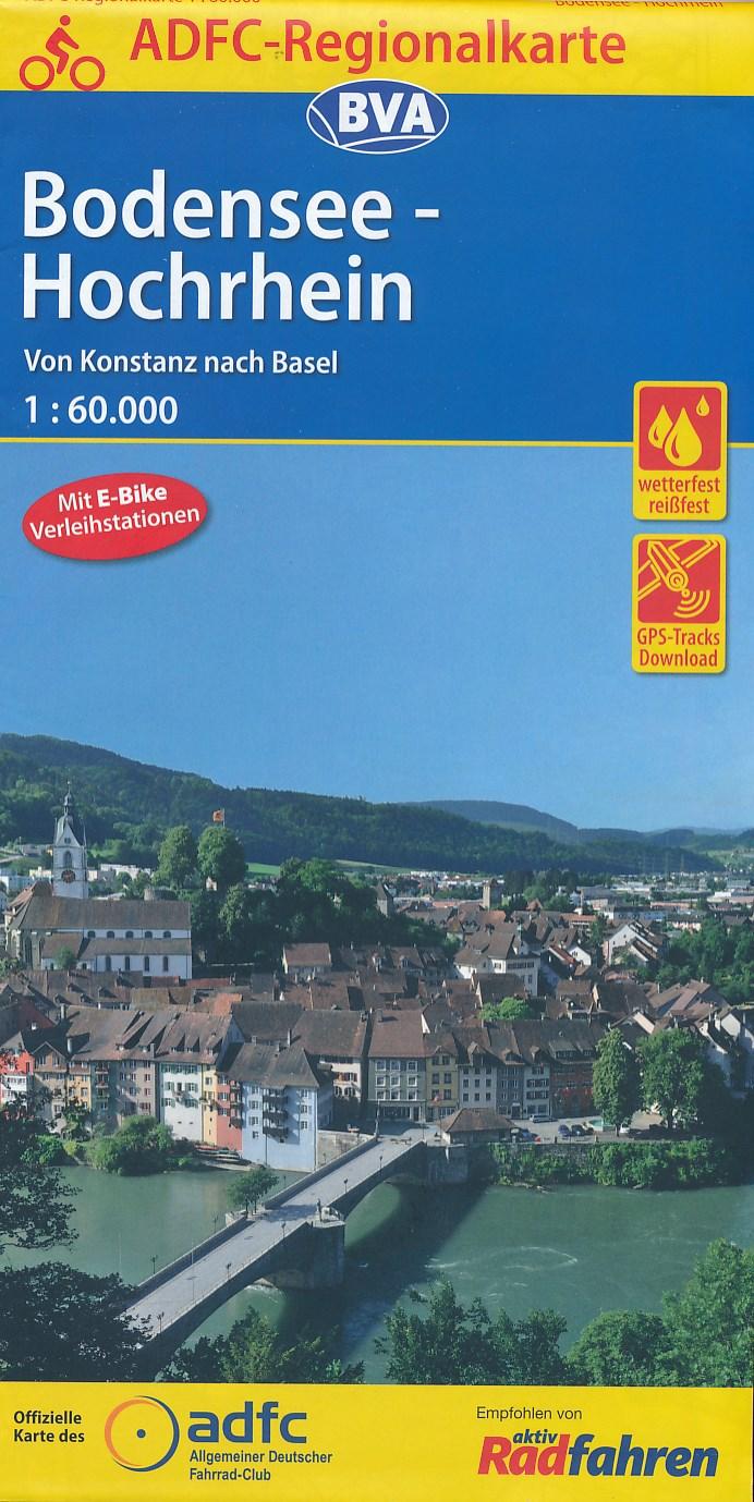 Fietskaart ADFC Regionalkarte Bodensee - Hochrhein | BVA