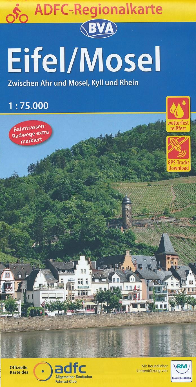 Fietskaart ADFC Regionalkarte Eifel - Mosel | BVA