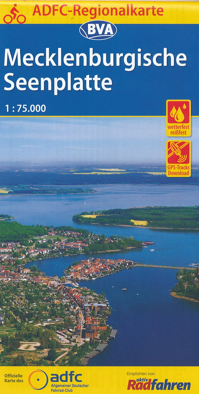 Fietskaart ADFC Regionalkarte Mecklenburgische Seenplatte | BVA