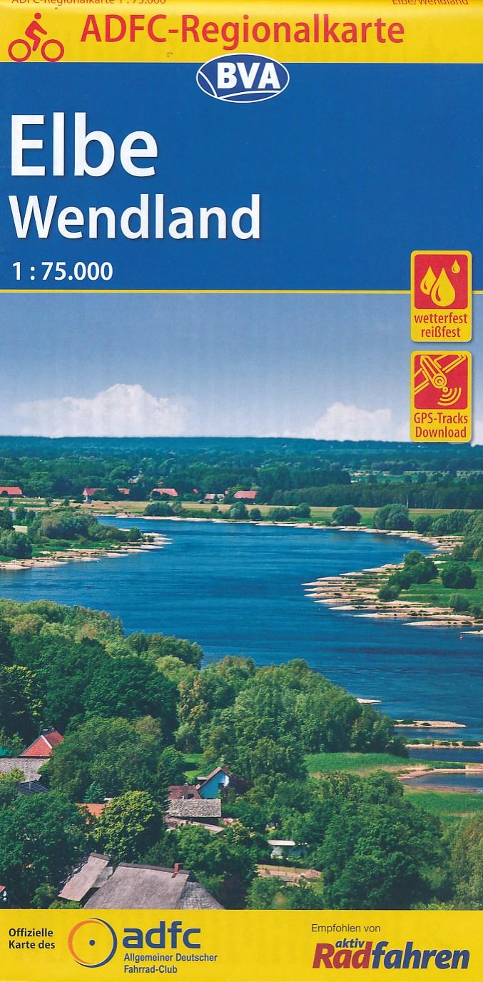 Fietskaart ADFC Regionalkarte Elbe - Wendland | BVA