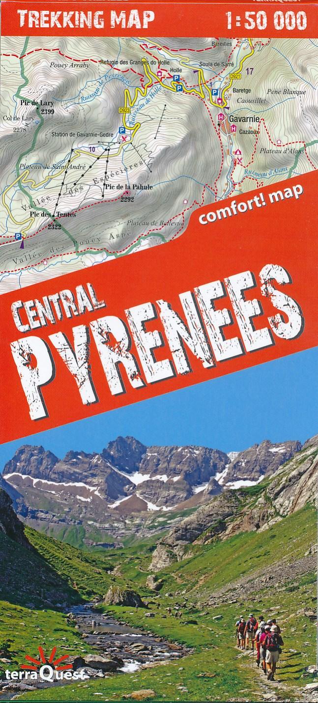 Wandelkaart Trekking map Central Pyrenees - Pyreneeën | TerraQuest