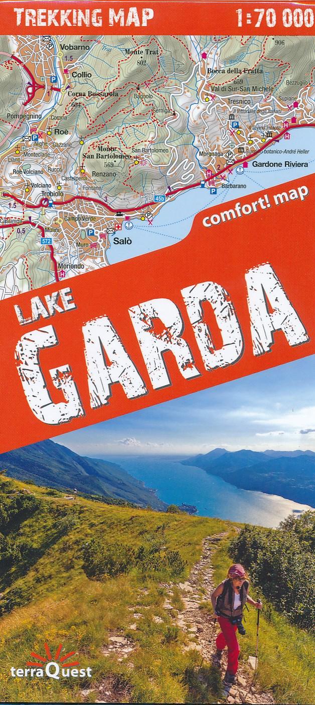Wandelkaart Trekking map Lake Garda - Lago di Garda | TerraQuest