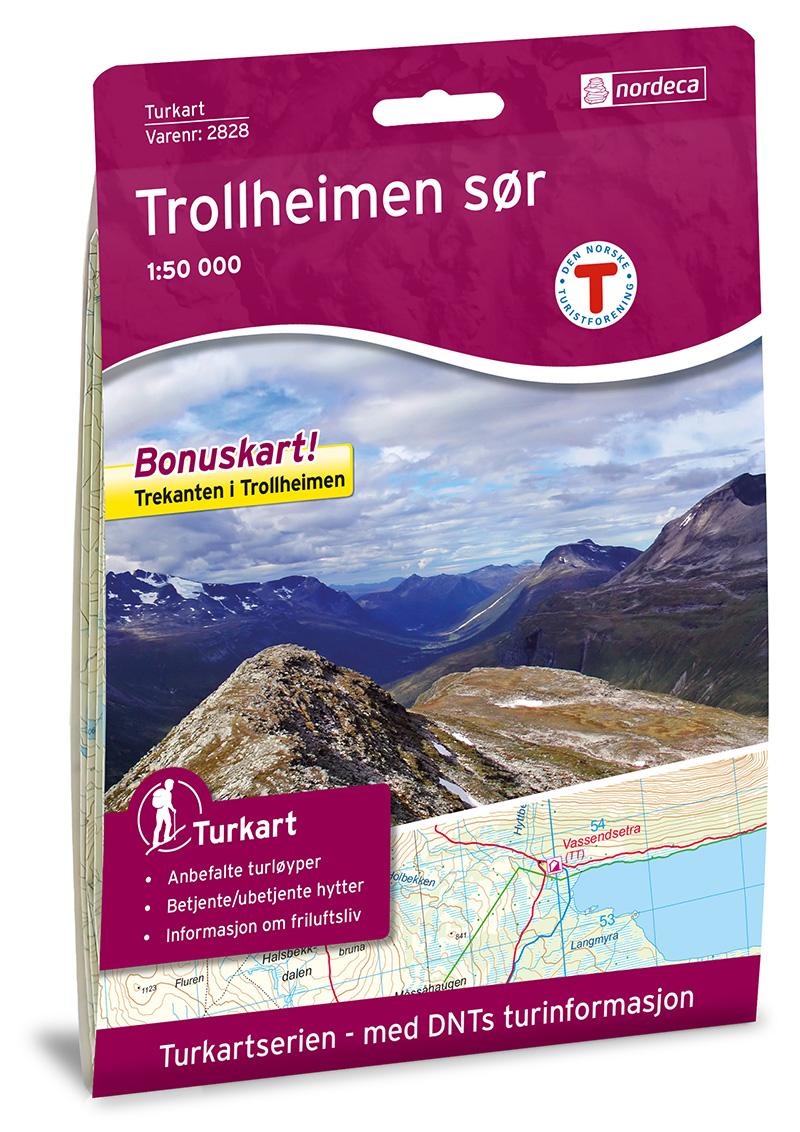 Wandelkaart 2828 Turkart Trollheimen - Sør | Nordeca
