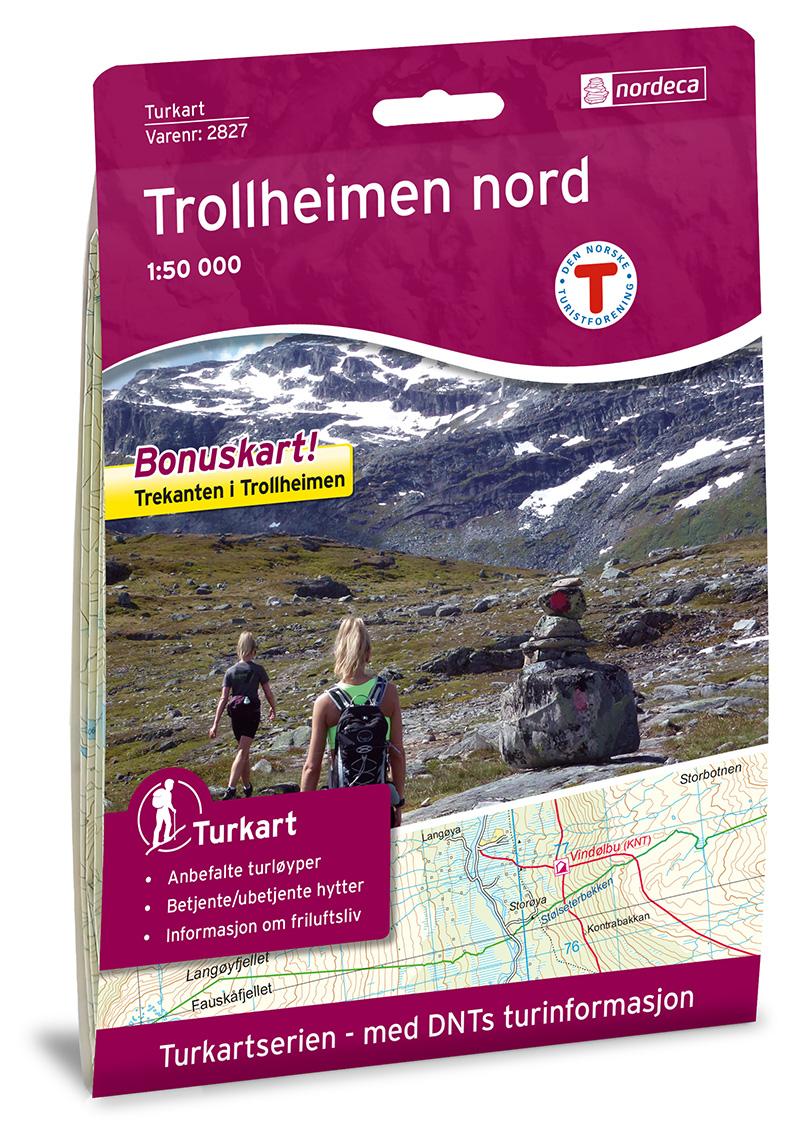 Wandelkaart 2827 Turkart Trollheimen - Nord | Nordeca