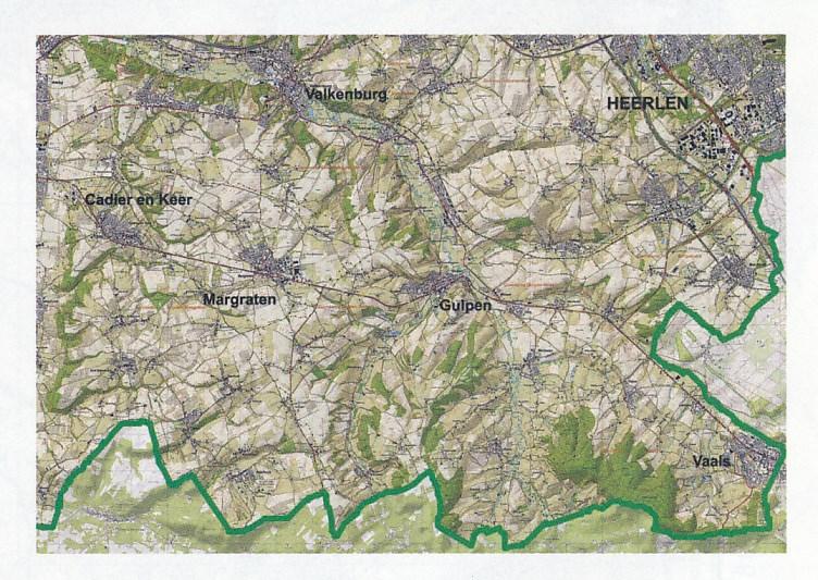 Topografische Kaart Wandelkaart Zuid Limburg Het Geuldal