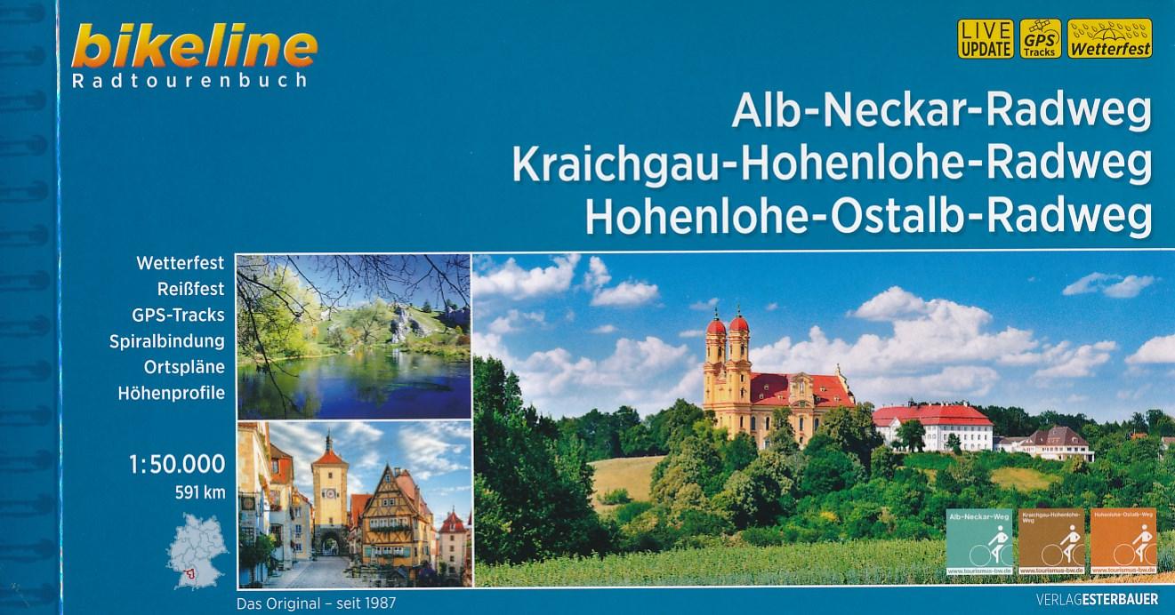 Fietsgids Bikeline Alb-Neckar-Weg, Kraichgau-Hohenlohe-Radweg, Hohenlohe-Ostalb-Weg | Esterbauer
