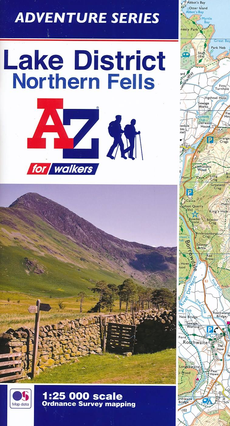 Wandelkaart Adventure Atlas Lake District Northern Fells | A-Z
