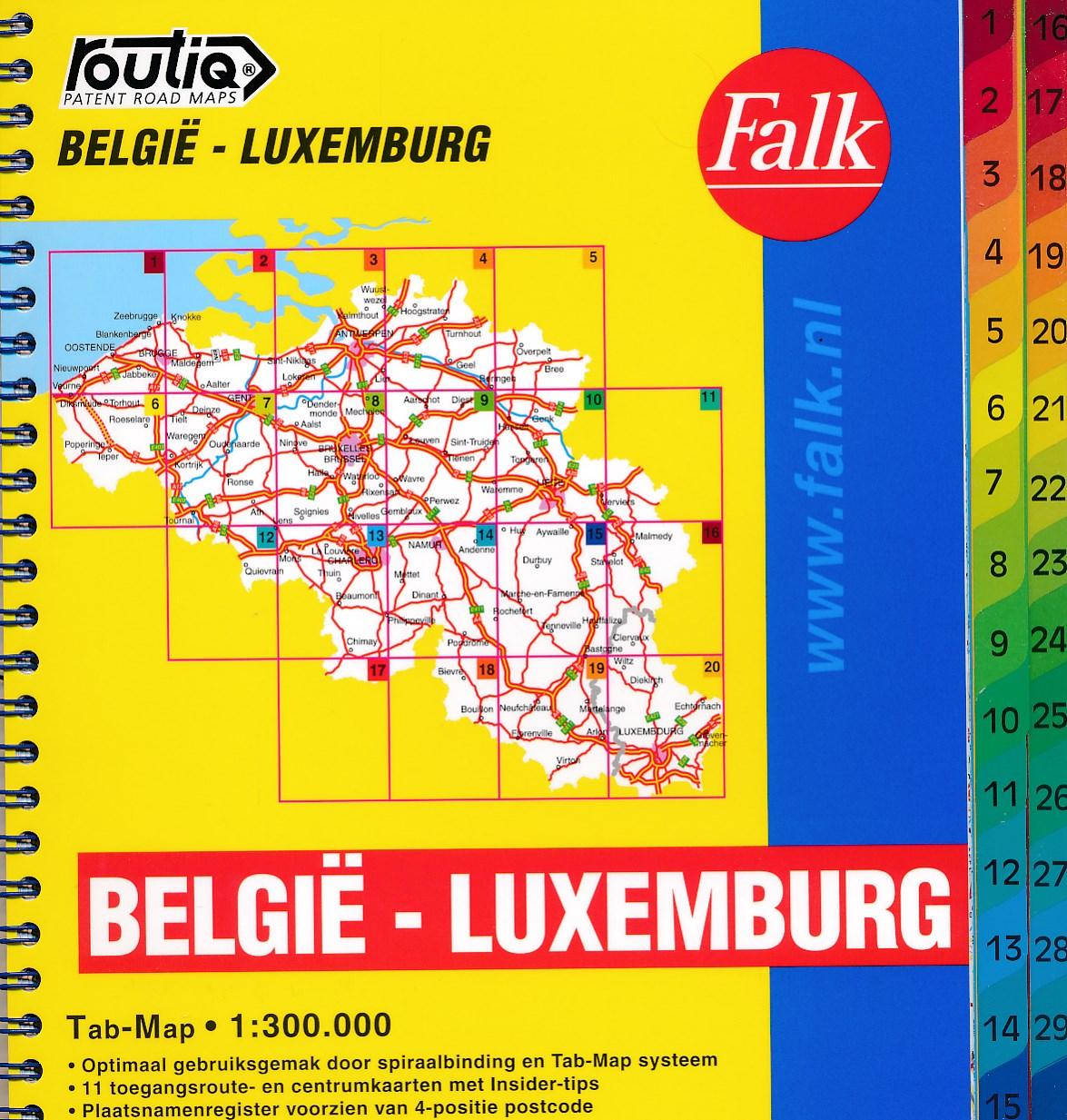 Wegenatlas Routiq Belgie en Luxemburg | Falk de zwerver