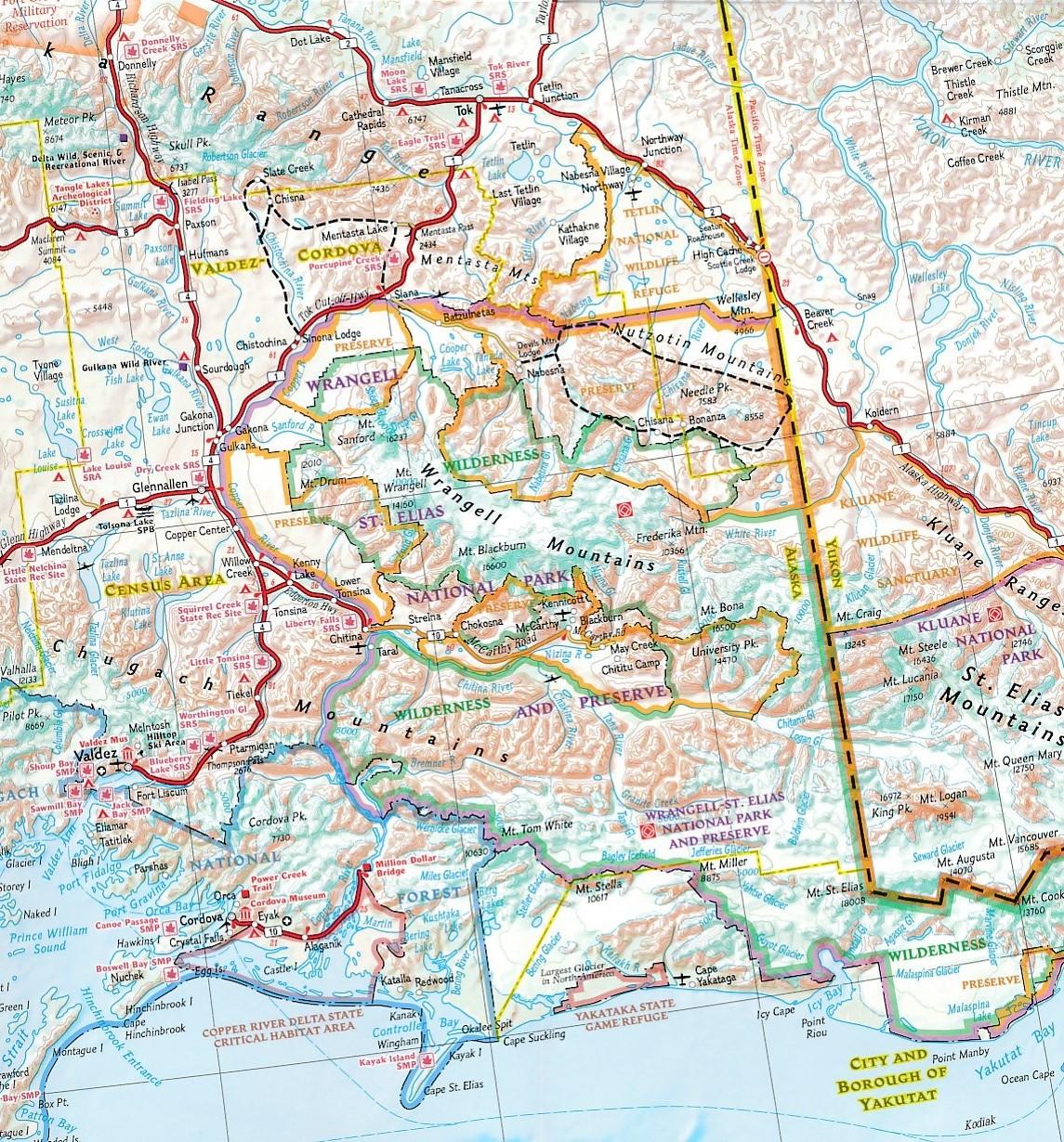 Wegenkaart Landkaart 3117 Adventure Map Alaska National
