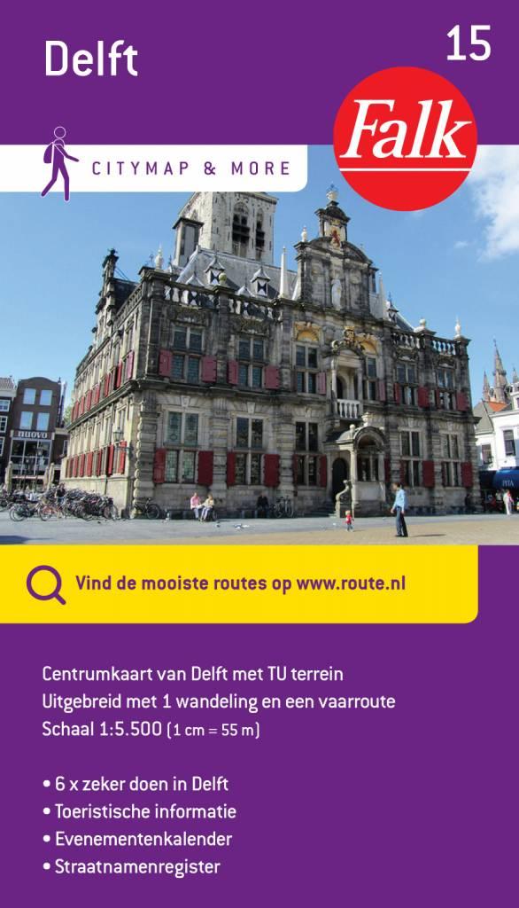 De toeristische centrumkaart van delft leidt je rond door het hart van deze historische stad. delft is wereld ...