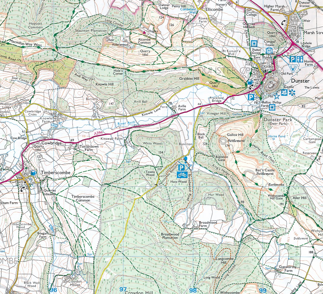 A Z Map Of England.Wandelkaart Adventure Atlas Minehead To Brean Down England Coast Path A Z Map Company