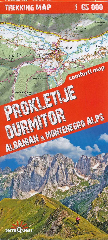 Wandelkaart Trekking map Prokletije - Durmitor | TerraQuest