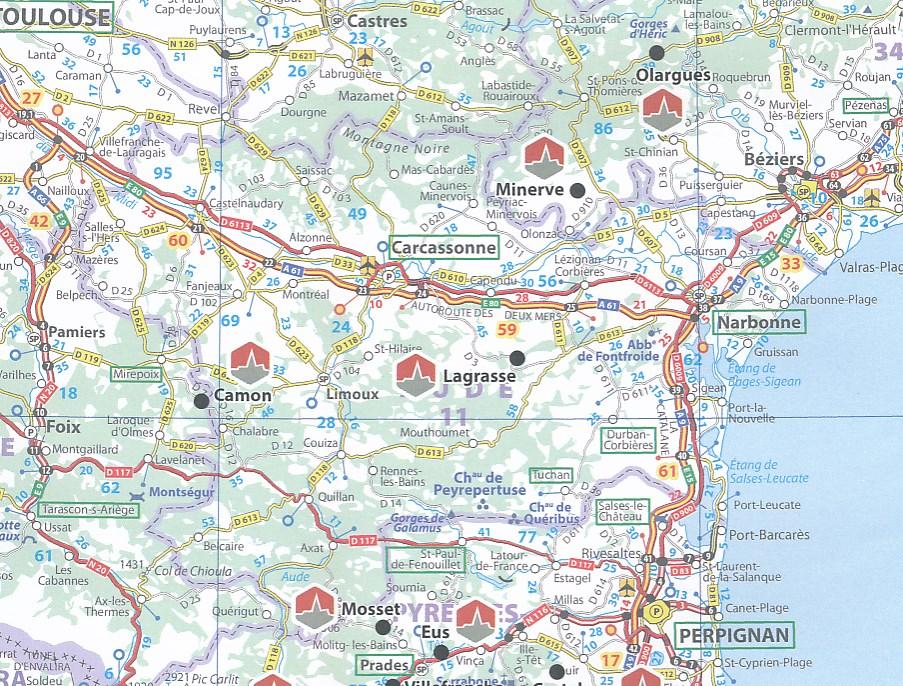 Wegenkaart - landkaart France - Frankrijk Les Plus Beaux ...