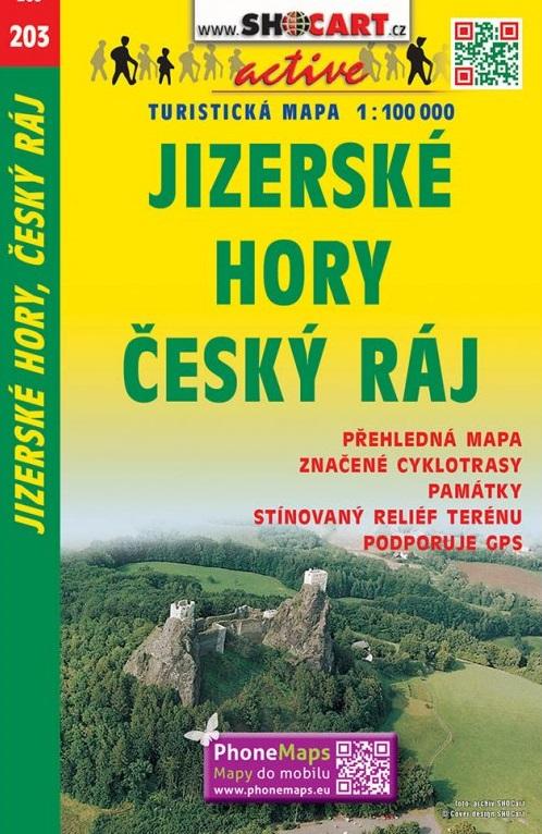 Fietskaart 203 Jizerské hory, Český ráj | Shocart