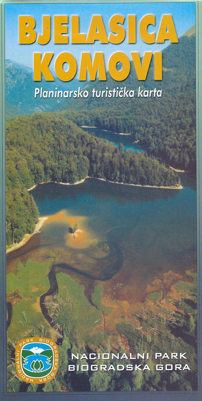 Online bestellen: Wandelkaart Bjelasica Komovi Nationaal park   Geokarta