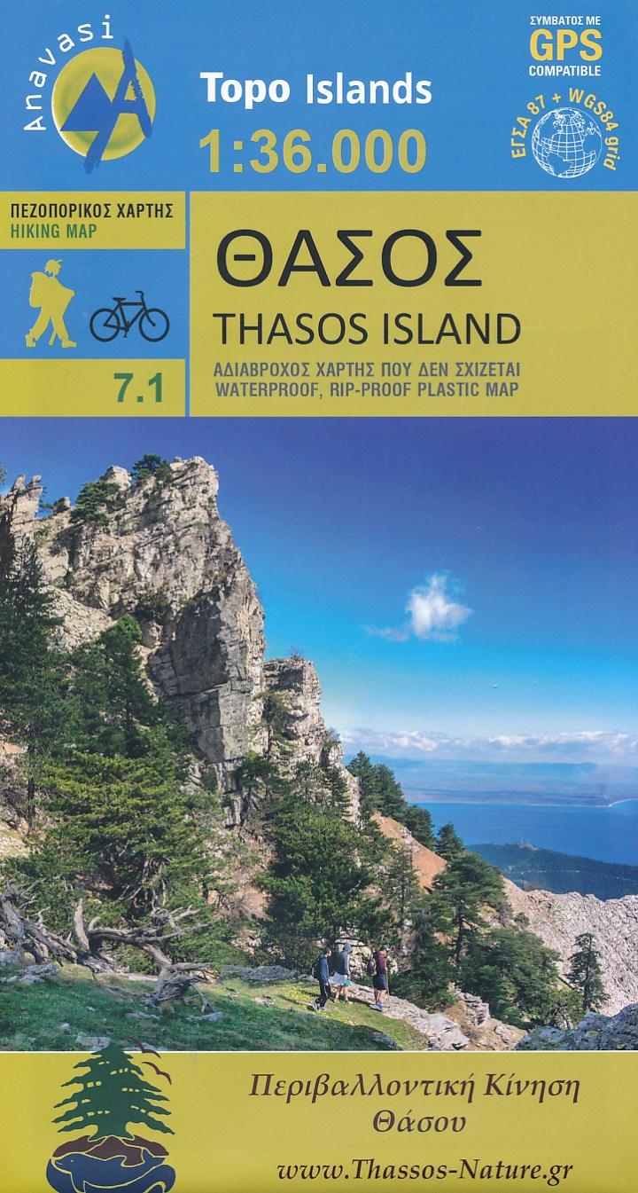 Wandelkaart 7.1 Thasos | Anavasi