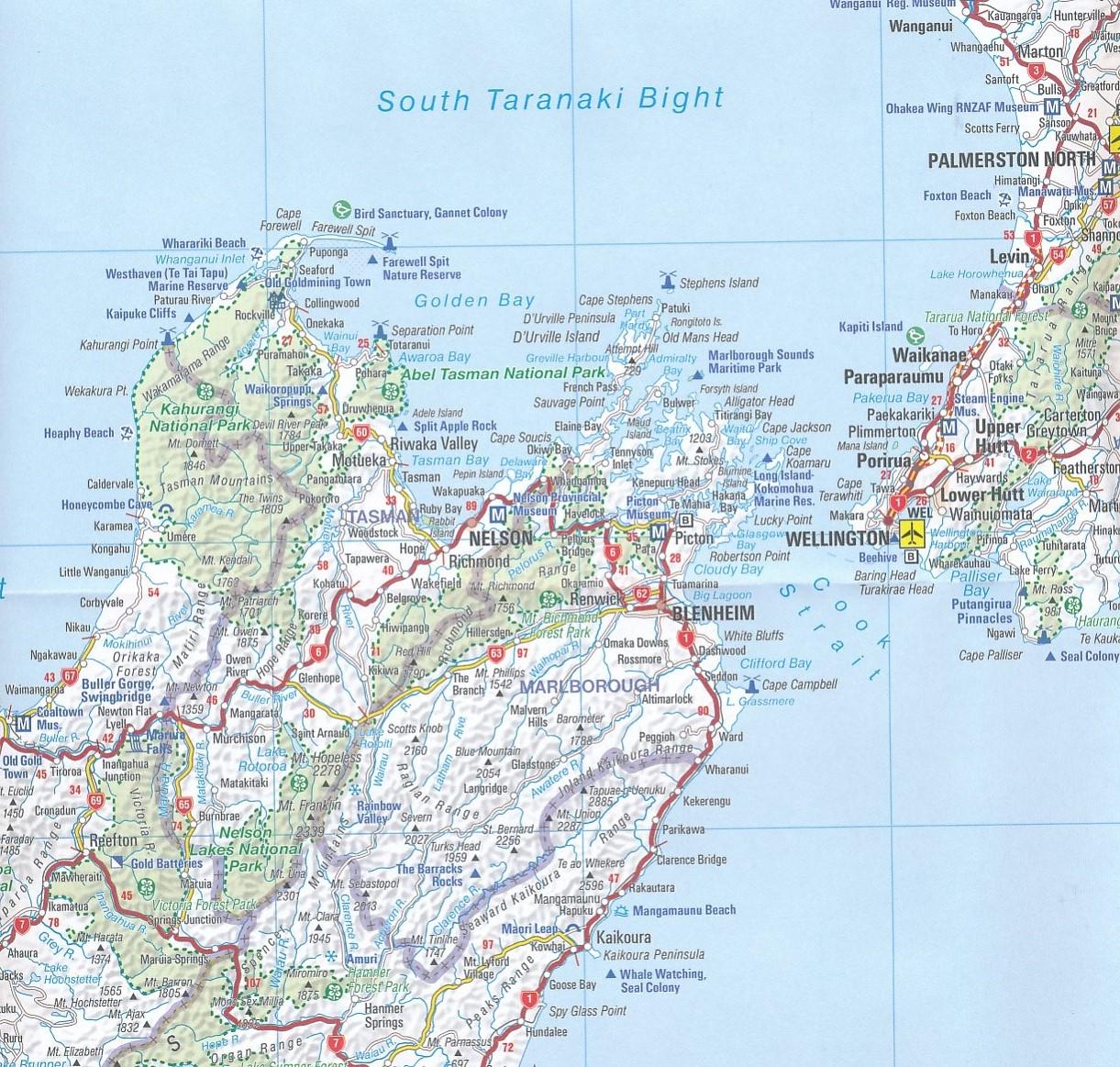 wegenkaart - landkaart 790 new zealand