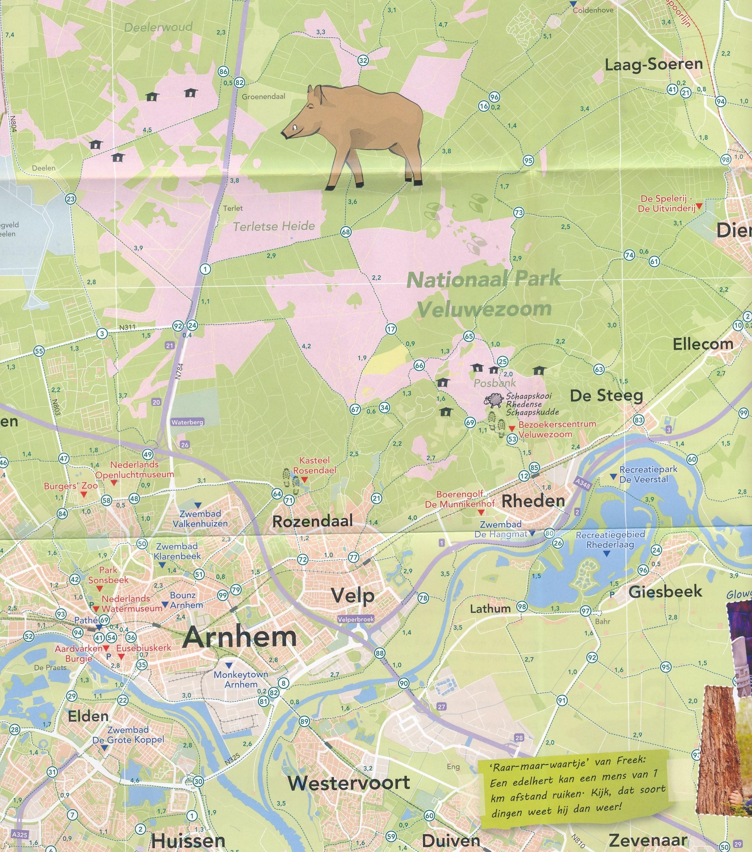 Wegenkaart Landkaart Fietskaart Wandelkaart Vakantiekaart