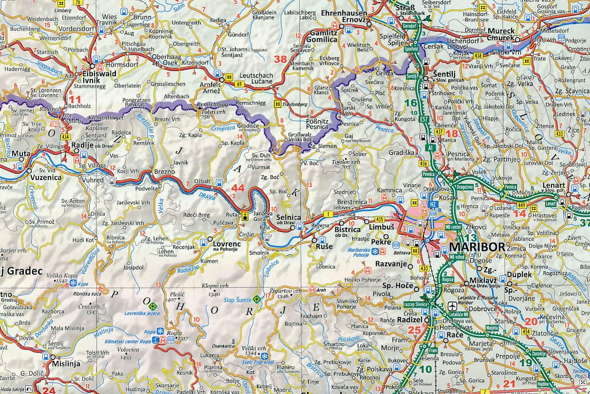 Wegenkaart Landkaart Slovenie Slovenija Istra Kvarner
