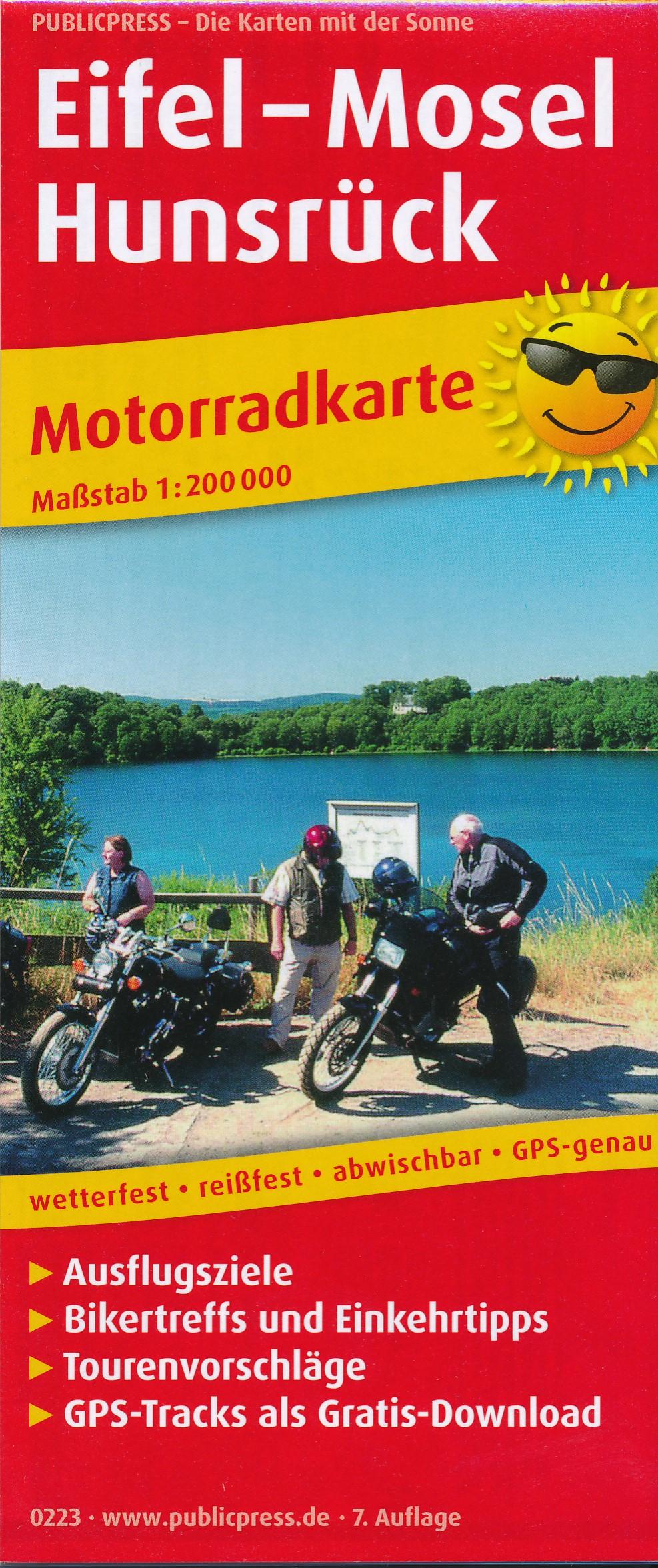 Wegenkaart - landkaart 223 Motorkarte Eifel - Mosel - Hunsrück | Publicpress
